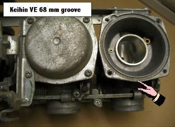 Keihin CV carburetor diaphram installation page for JBM Industries