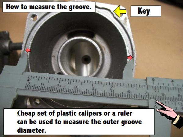 Diaphragm groove measurements are approximate.
