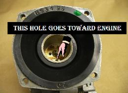 Air holes must be in proper position for diaphragm to work properly.